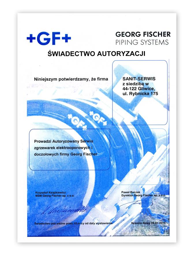 Zwiadectwo Autoryzacji GF061
